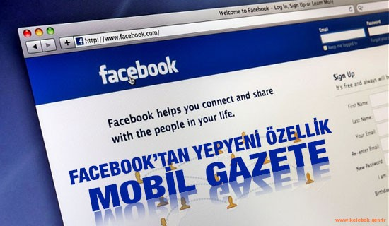 Facebook'tan yeni özellik: mobil gazete