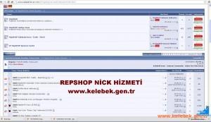 Nick açtırmak için REPSHOP Kullanın